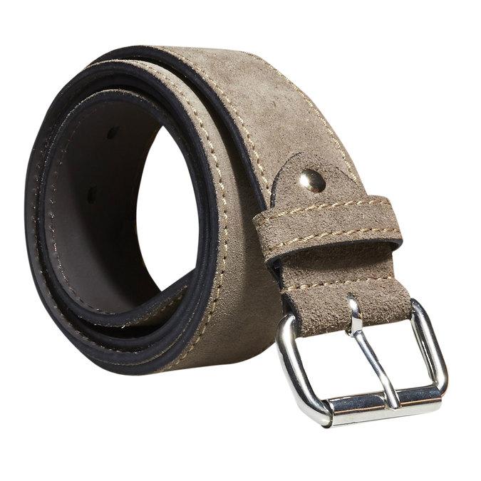 Pánsky kožený opasok bata, béžová, 953-8106 - 13