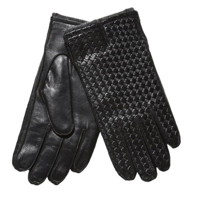 Kožené pánske rukavice bata, čierna, 904-6119 - 13