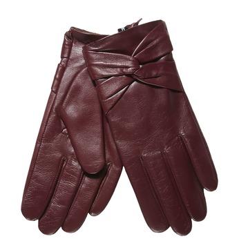 Kožené dámske rukavice bata, červená, 904-5109 - 13