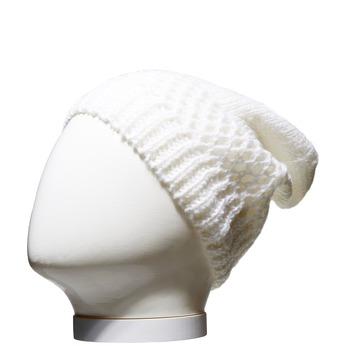 Pletená čiapka bata, biela, 909-1372 - 13