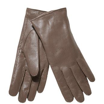 Dámske kožené rukavice s perforáciou bata, šedá, 904-2114 - 13