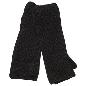 Pletené rukavice bez prstov bata, čierna, 909-6380 - 13