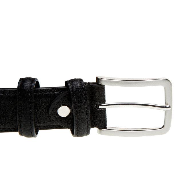 Kožený pánsky opasok bata, čierna, 954-6851 - 26