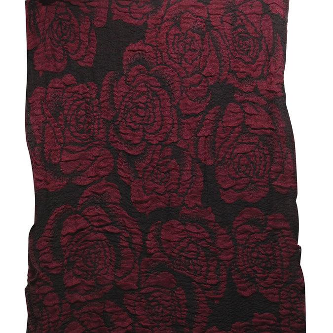 Šál s ružami bata, červená, 909-5326 - 26