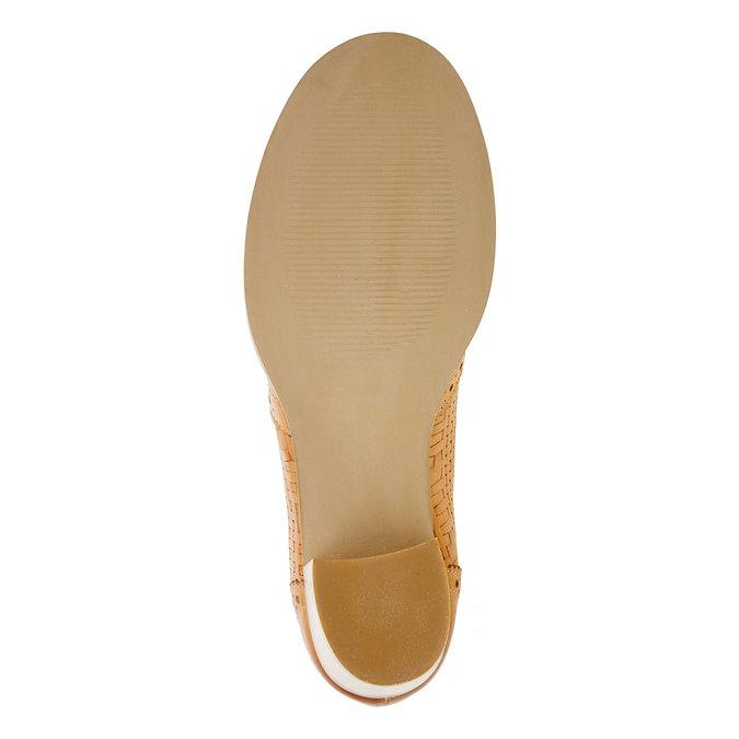 Kožené poltopánky na podpätku bata, hnedá, 624-3386 - 26