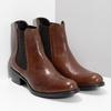 Kožená Chelsea obuv bata, hnedá, 594-4448 - 26