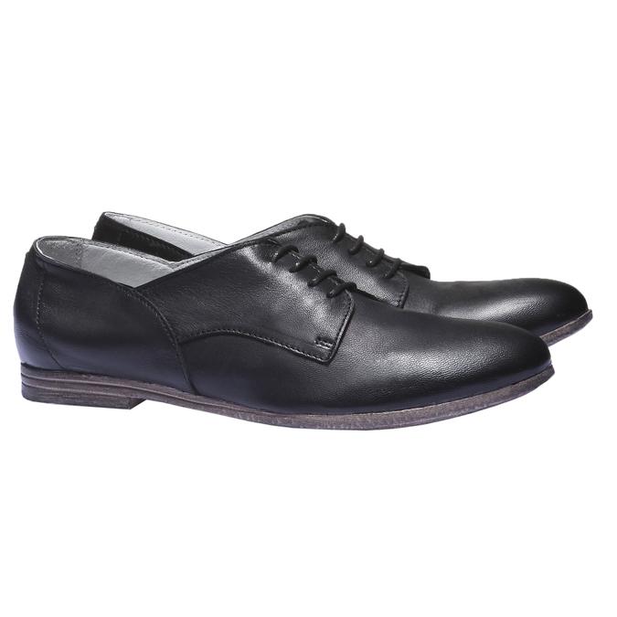 Kožené poltopánky bata, čierna, 524-6169 - 26