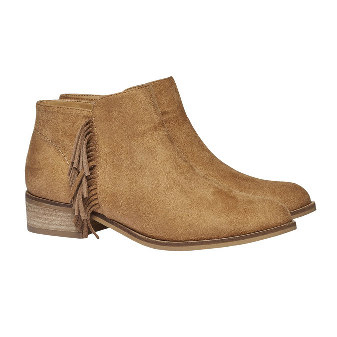 Členkové čižmy s trblietkami bata, hnedá, 599-3102 - 26