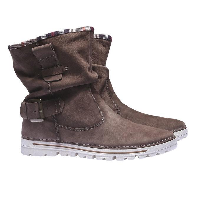 Kožená obuv s farebným lemom weinbrenner, hnedá, 596-4311 - 26
