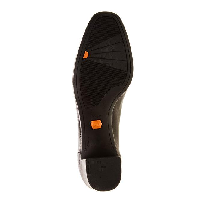 Kožené lodičky flexible, čierna, 624-6706 - 26