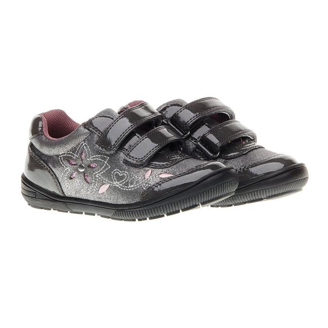 Dievčenské tenisky na suchý zips mini-b, šedá, 229-2140 - 26
