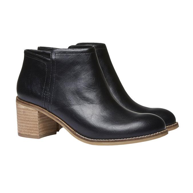 Členkové čižmy bata, čierna, 691-6271 - 26