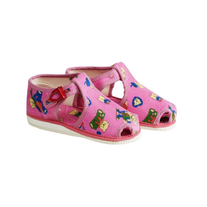 Detská domáca obuv bata, ružová, 179-5210 - 26