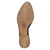 Kožené členkové čižmy s perforáciou bata, čierna, 594-6400 - 26