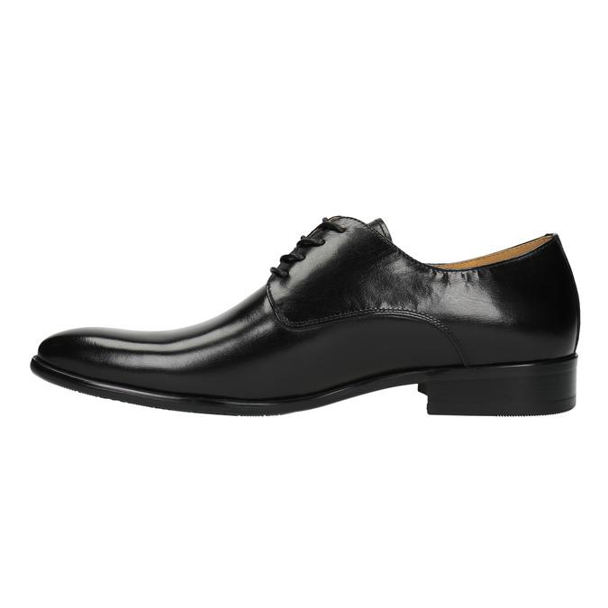 Pánske kožené poltopánky bata, čierna, 824-6648 - 26