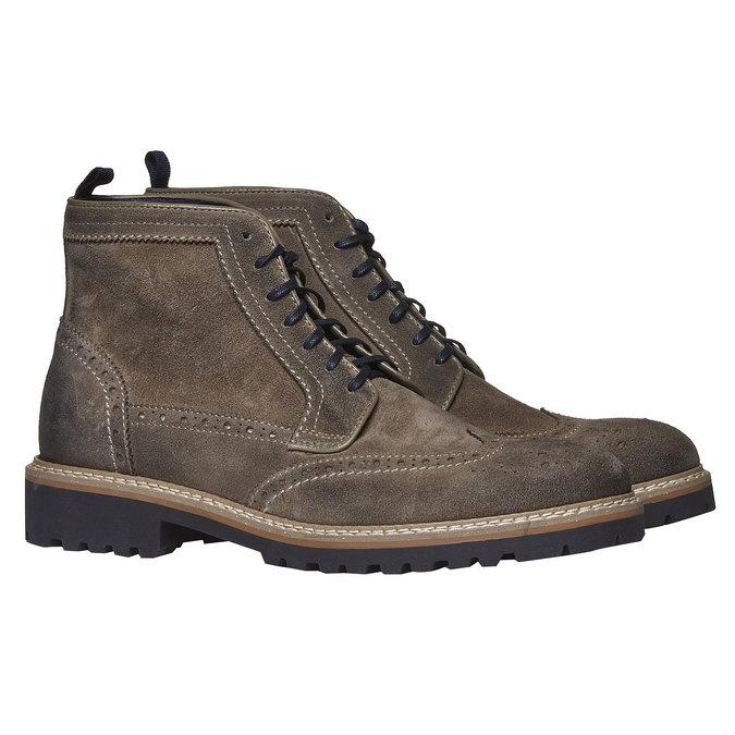 Semišová členková obuv bata, hnedá, 893-2372 - 26