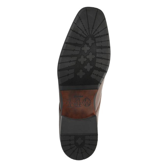 Kožené poltopánky v Derby strihu bata, hnedá, 824-4671 - 26