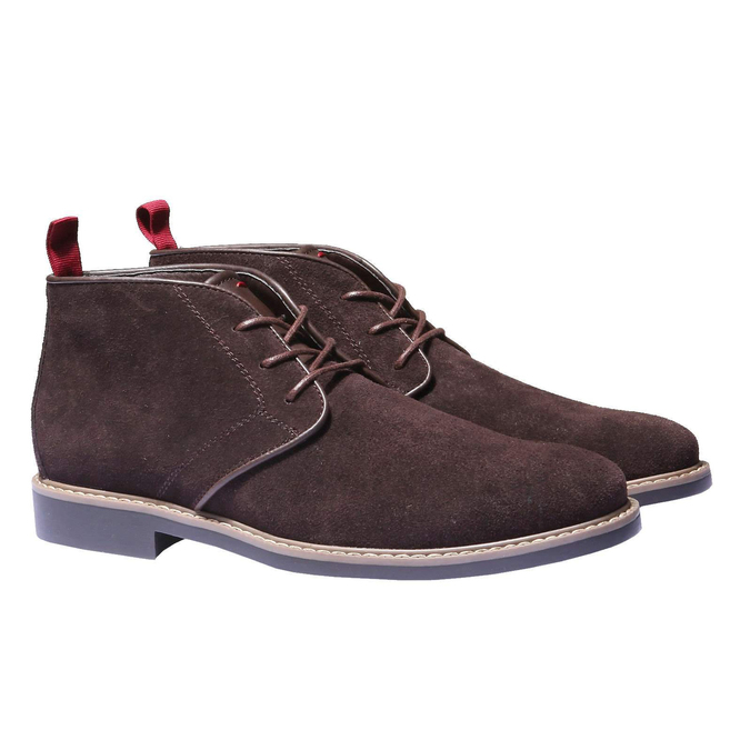 Členková obuv v štýle Chukka bata, hnedá, 893-4245 - 26