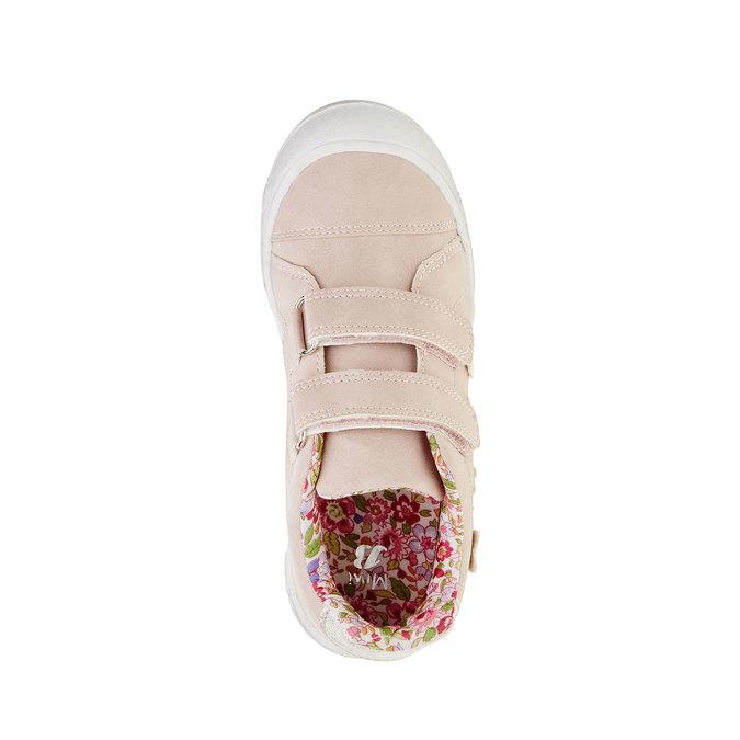 Dievčenské tenisky na suchý zips mini-b, ružová, 221-5161 - 19