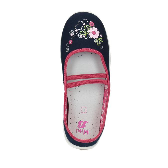 Detská domáca obuv mini-b, modrá, 379-9208 - 19