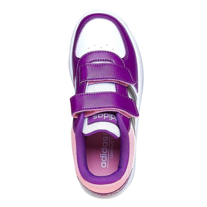 Detské tenisky na suchý zips adidas, fialová, 301-1167 - 19