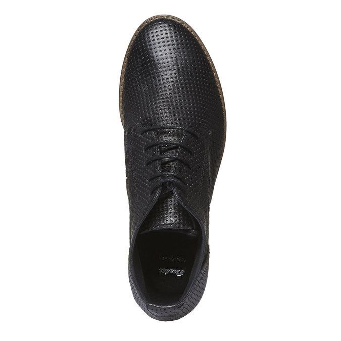 Dámske kožené členkové topánky bata, čierna, 524-6468 - 19