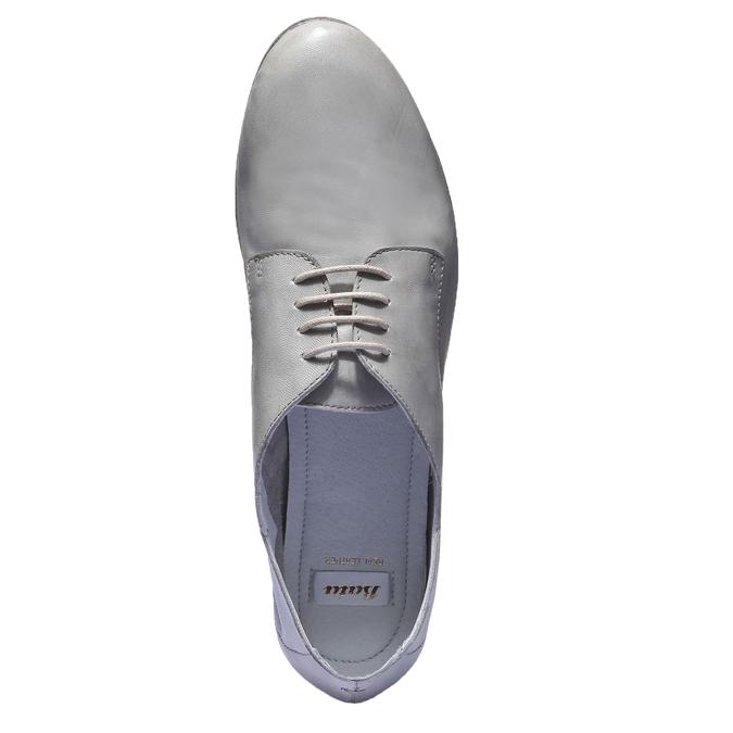 Kožené poltopánky bata, šedá, 524-2169 - 19