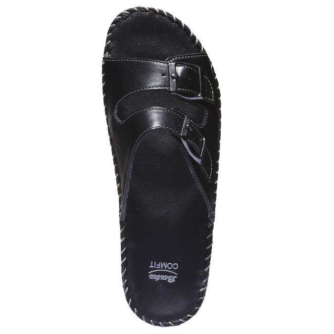 Kožené nazúvaky bata-comfit, čierna, 574-6173 - 19
