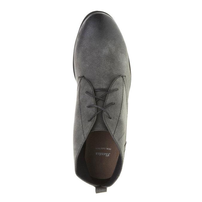 Členkové poltopánky bata, šedá, 591-6132 - 19