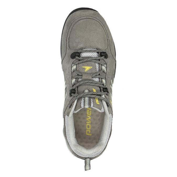 Dámska kožená obuv v Outdoor štýle power, šedá, 503-2829 - 19