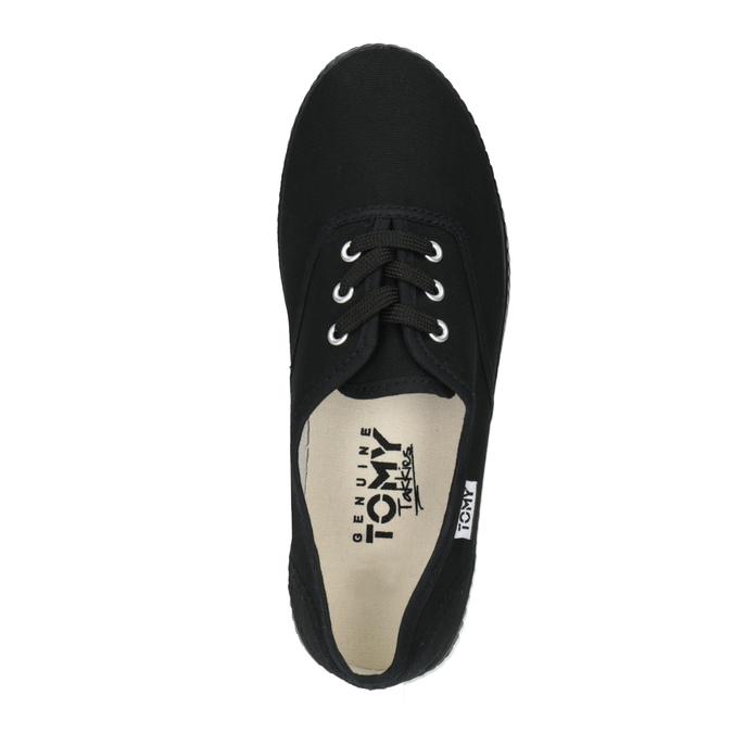 Čierne textilné tenisky tomy-takkies, čierna, 519-6691 - 19