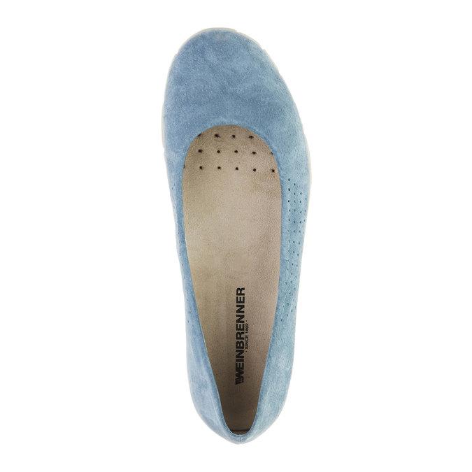 Ležérne kožené baleríny weinbrenner, modrá, 526-9103 - 19