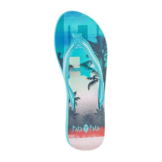 Dámske žabky pata-pata, modrá, 581-9600 - 19
