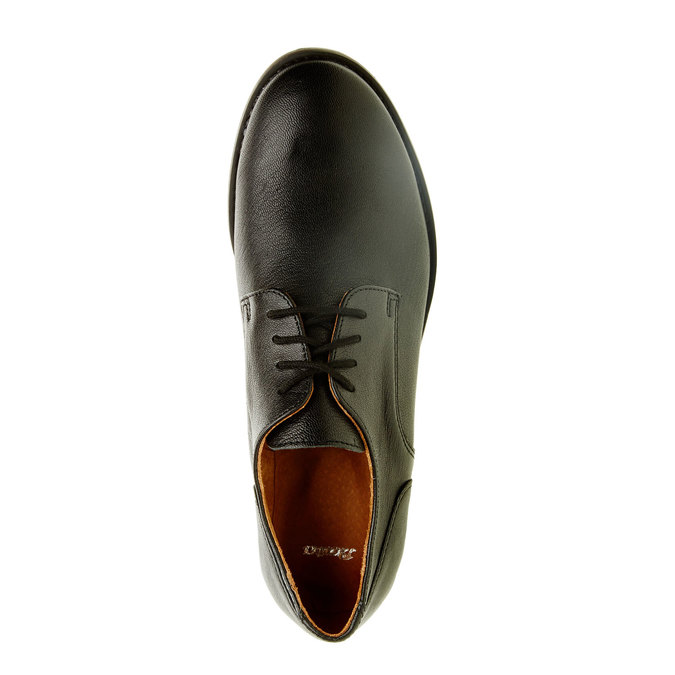 Dámske kožené poltopánky bata, čierna, 524-6117 - 19