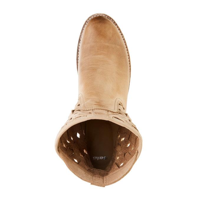 Kožené členkové čižmy bata, hnedá, 596-3612 - 19