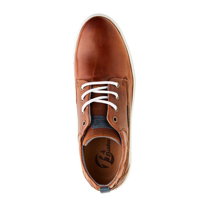Ležérne kožené tenisky bata, hnedá, 844-3310 - 19