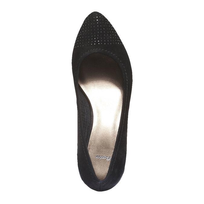 Kožené lodičky s predĺženou špičkou bata, čierna, 626-6103 - 19
