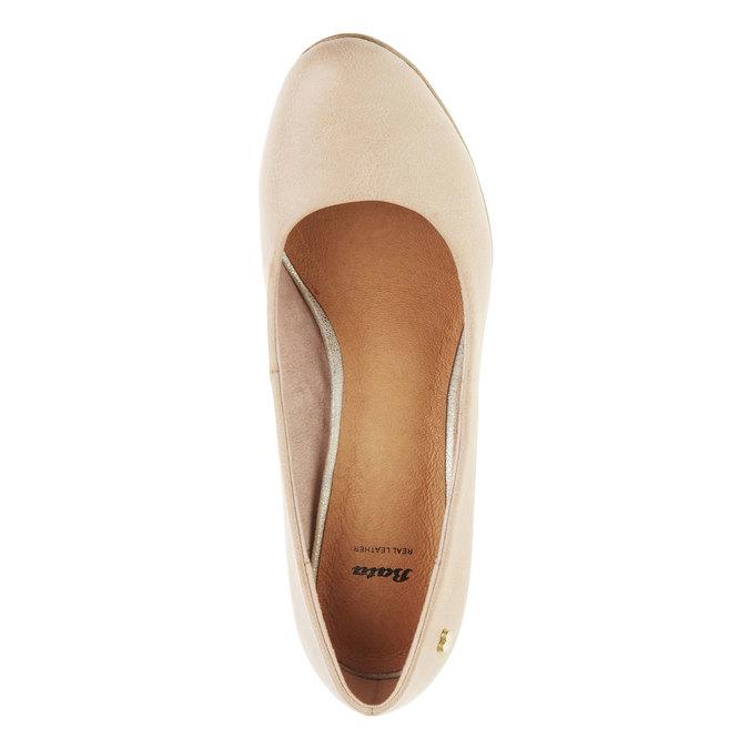 Lodičky na širokom podpätku bata, béžová, 721-5946 - 19