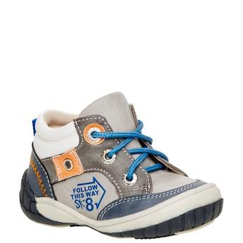 Členkové topánky so zipsom mini-b, šedá, 111-2100 - 13