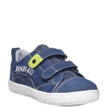 Detské tenisky na suchý zips mini-b, modrá, 211-9157 - 13