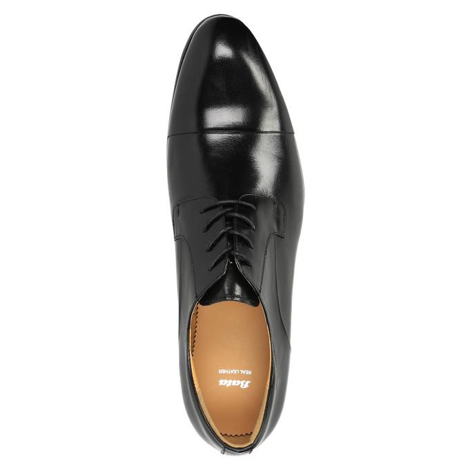 Kožené poltopánky v Derby strihu bata, čierna, 824-6652 - 19