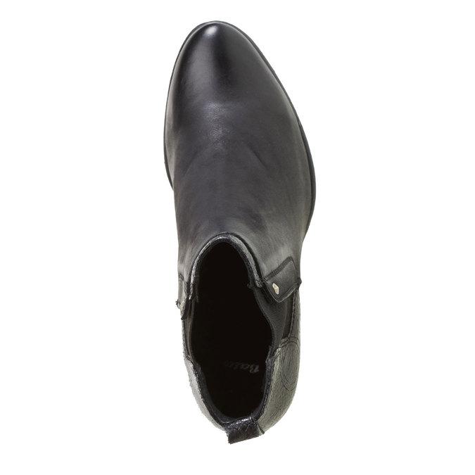 Kožené členkové čižmy bata, čierna, 694-6107 - 19