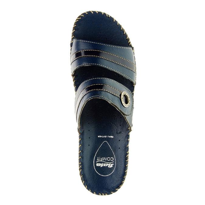 Dámske papuče na klinovom podpätku comfit, modrá, 674-9249 - 19