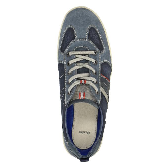 Pánske kožené tenisky bata, modrá, 826-9649 - 19
