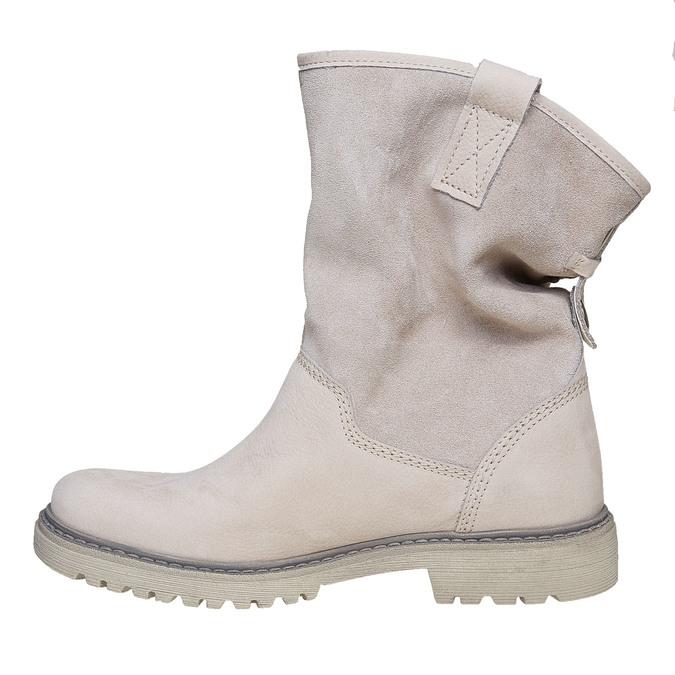 Kožená členková obuv weinbrenner, béžová, 596-8405 - 19