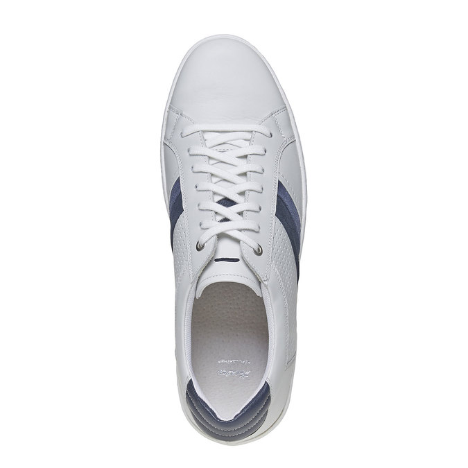Biele kožené tenisky bata, biela, 844-1639 - 19