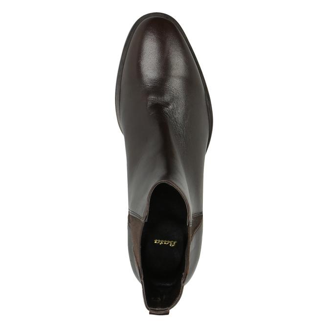 Kožené členkové topánky s pružnými bokmi bata, hnedá, 596-4623 - 19