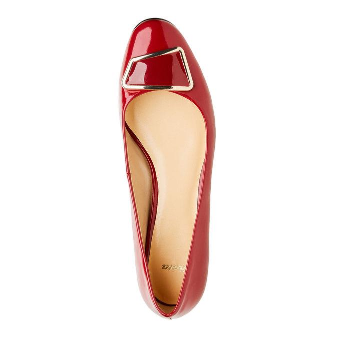 Červené lodičky na nízkom podpätku bata, červená, 621-5201 - 19