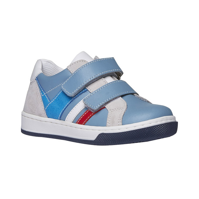 Detské kožené tenisky na suchý zips mini-b, modrá, 214-9153 - 13