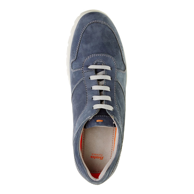 Ležérne kožené tenisky flexible, modrá, 846-9650 - 19